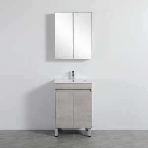 Nova Poly Wood Vanity-Concrete Grey